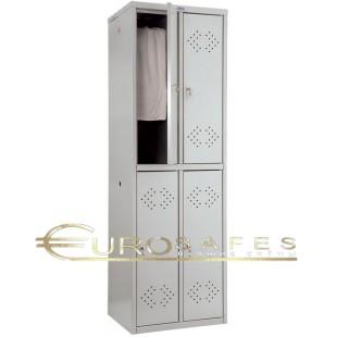 Шкаф для раздевалок ПРАКТИК LS-22-80